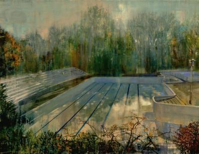 Schilderij leeg zwembad Isabella Werkhoven  Papiermolen