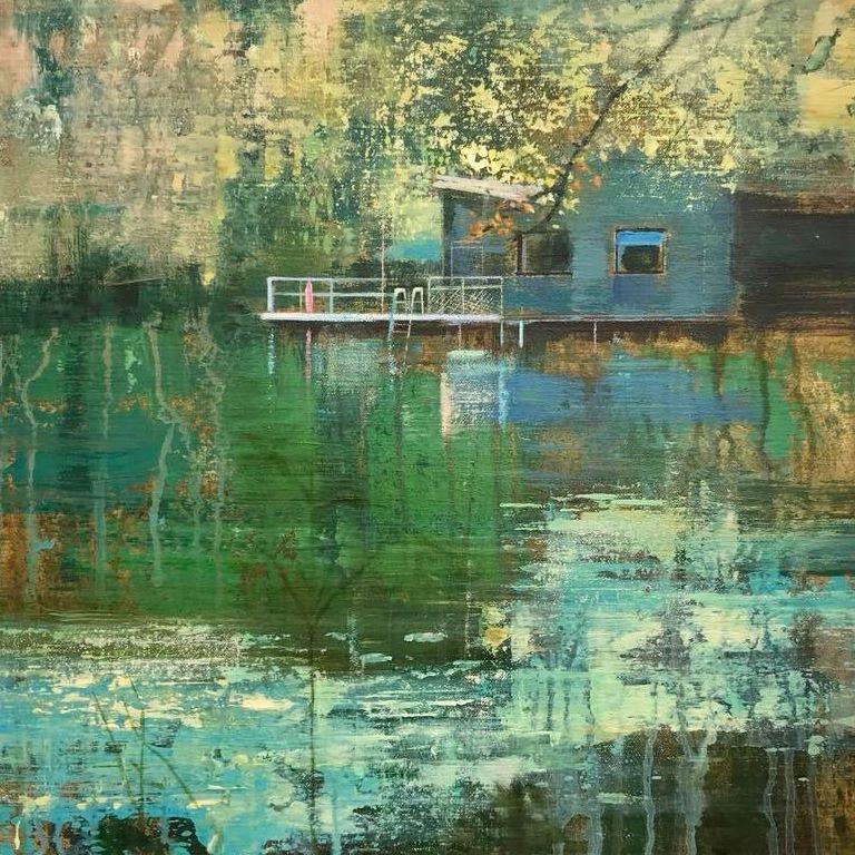 schilderij isabella werkhoven swimming pond 8