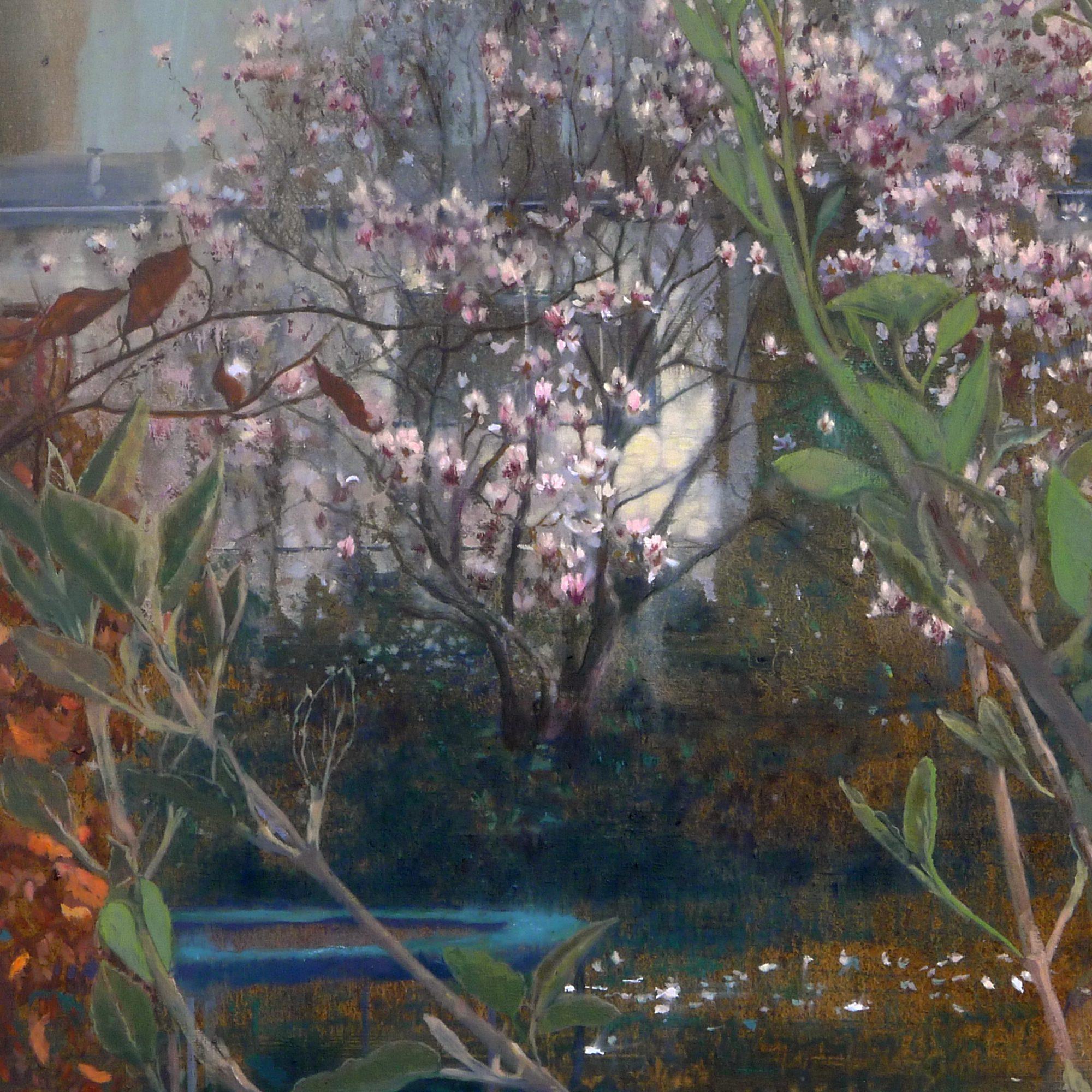 Schilderij magnolia van Isabella Werkhoven