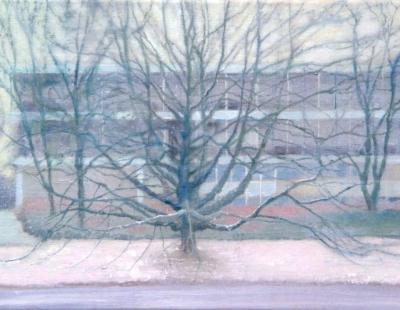 schilderij Isabella Werkhoven treurwilg flat NRC recensie