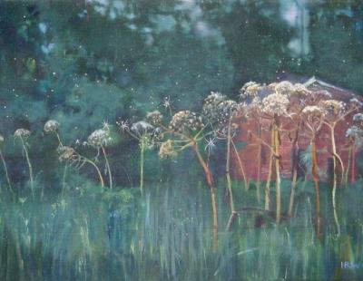 Schilderij uitgebloeide berenklauwen isabella werkhoven collectie museum Belvédère
