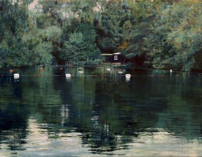 Schilderij Isabella Pond #4 zwemvijver Londen