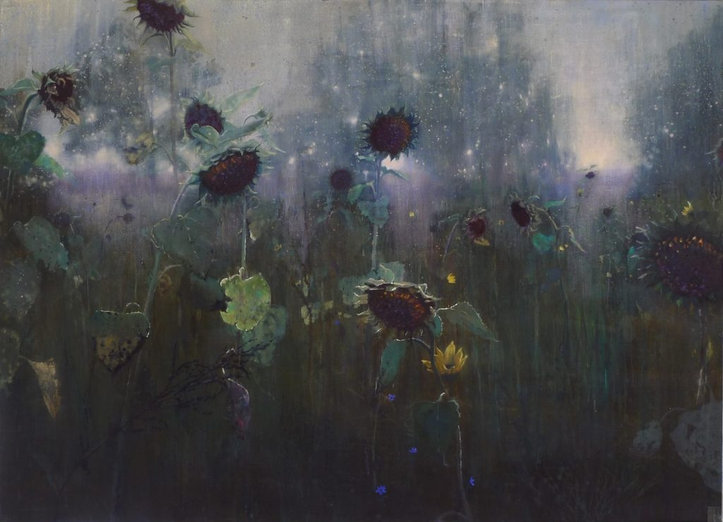 schilderij zonnebloemen isabella werkhoven