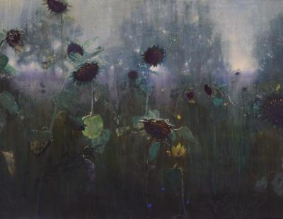 Schilderij Zonnebloemen van Isabella Werkhoven