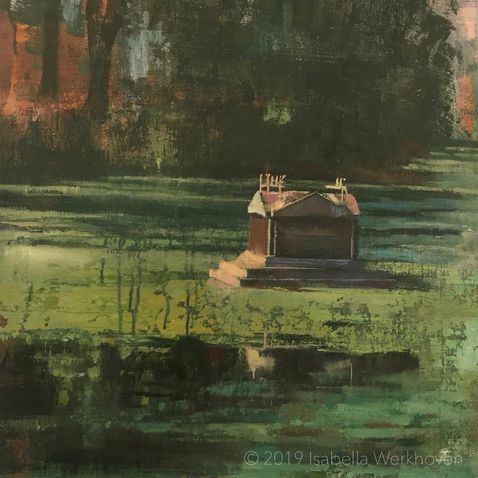 Detail van een schilderij in ontwikkeling voor PAN 2019