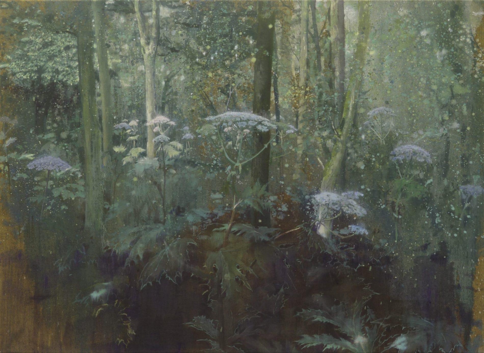 schilderij isabella werkhoven berenklauwen in bos