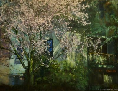 Bloesemboom groot schilderij isabellawerkhoven pan2019