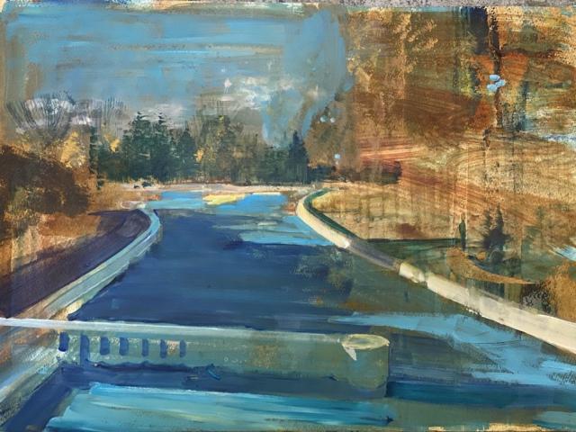 schilderij  Isabella Werkhoven te koop op aquarelkarton pierenbad Papiermolen