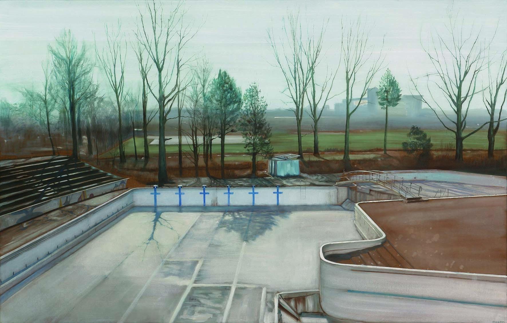 schilderij leeg zwembad papiermolen Isabella Werkhoven